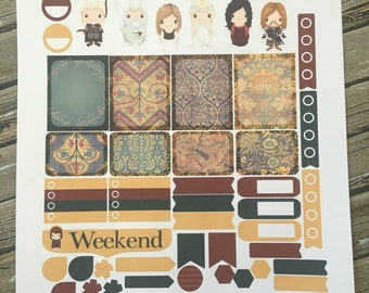 Middle Earth Weekly Planner Stickers Set, Erin Condren Life Planner, Happy Planner