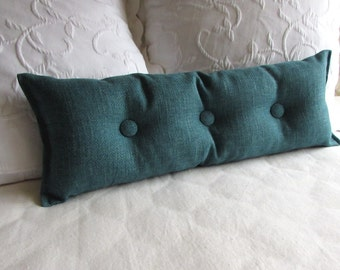 TEAL 9x25 Bolster/lumbar pillow available in many of our fabrics