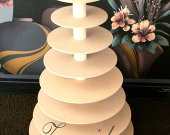 Cupcake Stand 8 Tier MDF Wood DIY Project Cupcake Tower Wedding Stand Birthday Stand Display Stand