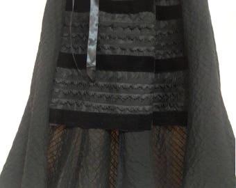 Black Victorian High Low Skirt