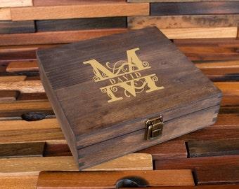 Personalized Cigar Box, Groomsman Gift Box, Gift for Man, Engraved Wood Box, Wedding Bridal Gift, Best Man Gift, Party Gift Box, Men's Box
