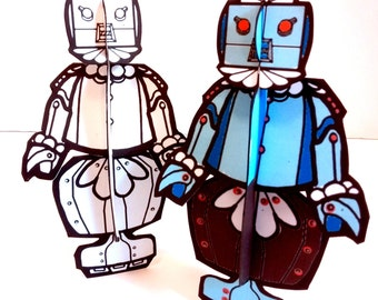 Rosie the Robot Duo Paper Doll Set - Printable Toy