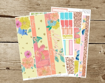 Choose your Month(ly) kit-- Bloom (for use in Erin Condren Life Planner)