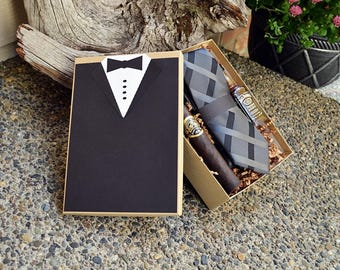 Will You Be My Groomsman Gift Box Tux Best Man Rustic Custom Gift XL