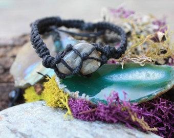 Raw Labradorite Wrap Bracelet