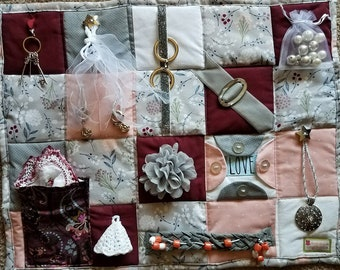 Classy Lady Loves Bling Fidget Blanket - Fidget Quilt for Dementia, Alzheimers, Stroke and Nursing Home patients