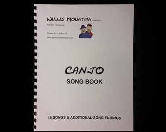 Canjo Songbook - 46 Songs, plus alternate song endings.  Paperback.  Spiral bound.