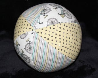 Small White Bicycles Boutique Ball Rattle Toy