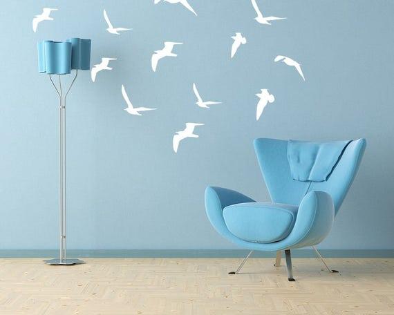 Seagulls flock Vinyl Decal