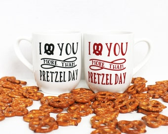 The Office Pretzel Day Mug - I Love You More Than Pretzel Day - Funny Coffee Mug - Valentine's Day Mug - Gift For Him - Gift For Her