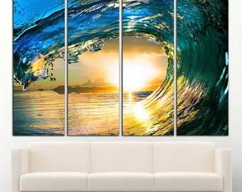 ocean print ocean canvas ocean wall art ocean wall decor Wave wall art Wave wall decor Wave print Wave canvas wave photo wave poster sea art