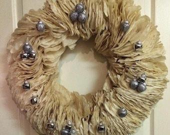 Coffee filter wreath