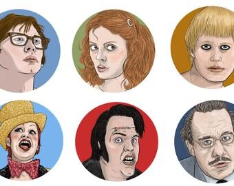 Rocky Horror 6 Magnet Set