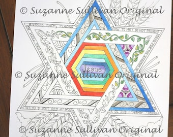 Bible Verse Coloring Page, Christian Coloring Page, Coloring Page, Printable Download, Adult Coloring Page, Meditation, Mark 10:14-16