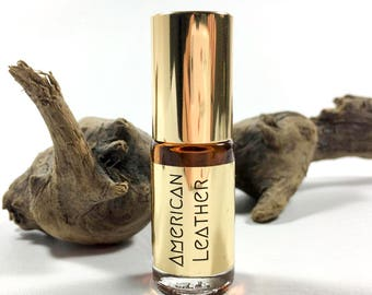 AMERICAN LEATHER mini perfume oil roll on / leather, immortelle, oakmoss perfume