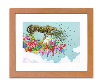 Antheia's Onus Archival Limited Edition Print of 50 Cheetah, Jaguar, Leopard, Save the Bees!