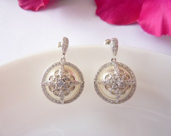 Art Deco Earrings Pearl Earrings Vintage Earrings Great Gatsby Earrings Art Nouveau Earrings Wedding Earrings Bridal Earrings Downton Abbey