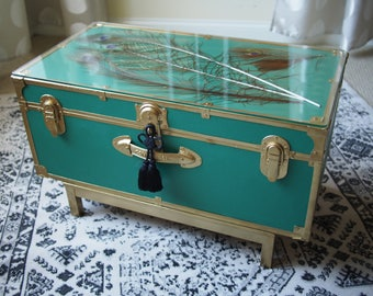 Regency Peacock Trunk Coffee Table