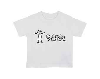 Human Centipede type 1 baby t shirt , various sizes, funny nerd