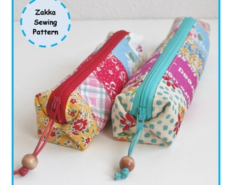 PDF Cute Pleats! Pencil Case - Sewing Pattern - Zakka - Instant Download