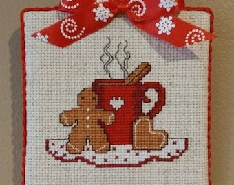 "Finished Cross Stitch ""Gingerbread Man"""
