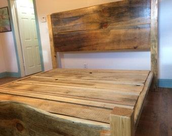 King Size Platform Bed Frame/Pine Platform Bed Frame