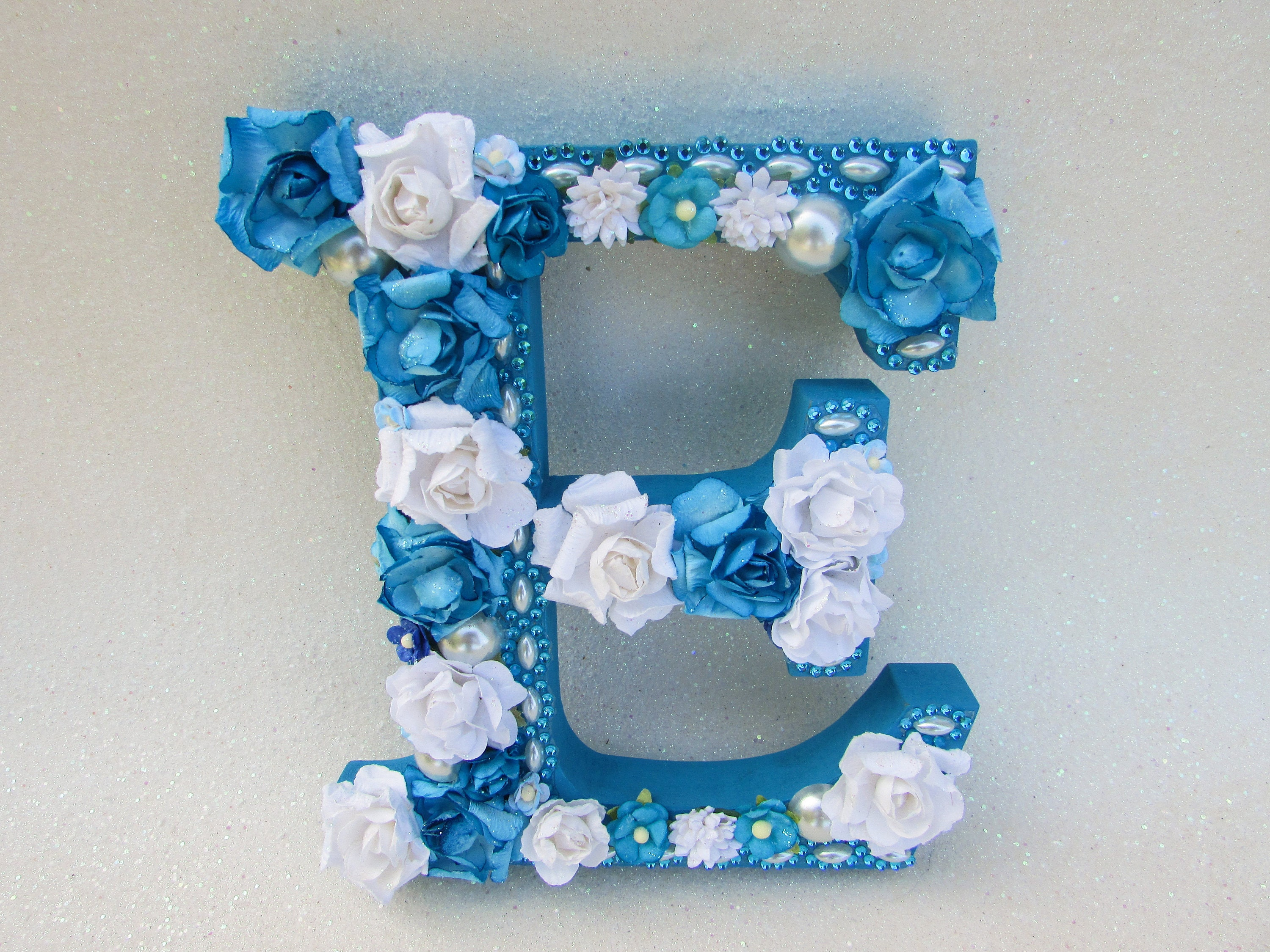 Letter E Wall Decor Flower Name Letter Floral Letter E Nursery Wall Decor