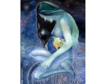 Maternity Art -Mother Earth - Gaia - Goddess Art