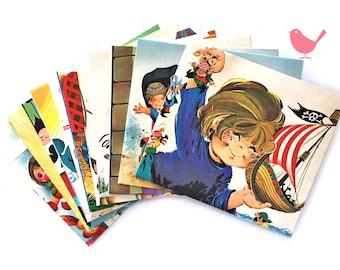 Set of 15 handmade vintage envelopes 1