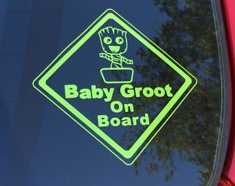 Baby Groot on Board Decal
