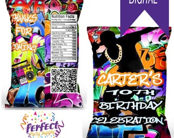 Fresh Hip Hop  Chip/Snack/Treat Bag with Photo
