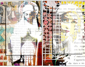 Virgin Mary..... A4 digital download collage sheet...