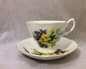 Royal Albert Teacup and Saucer Buttercups and Violets