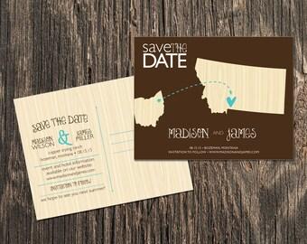 Montana – Save the Date –Bozeman, Billings, Big Sky Destination Wedding – Wedding Save the Dates