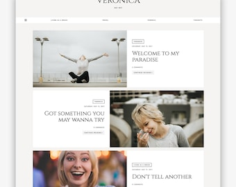 Veronica | Responsive Minimalist Premade Blogger Template