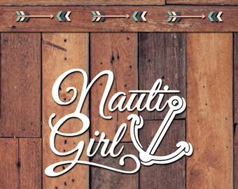 Nauti Girl Decal | Yeti Decal | Yeti Sticker | Tumbler Decal | Car Decal | Vinyl Decal
