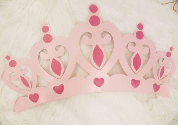 Superb One Metal Pink Glitter CROWN Wall Decor/Distressed Princess Tiara Furniture  Decor,Prince Princess Kids Nursery, Girls Room, Disney Fairytale From ...