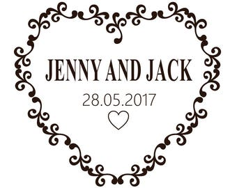 Frame Wedding Heart Graphics SVG Dxf EPS Png Cdr Ai Pdf Vector Art Clipart Instant