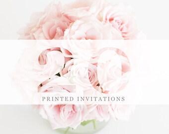 20 Premium Printed Invitations | White Envelopes