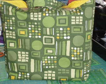Mid-Century Modern Tote, Jumbo Lined Book Bag, Market Tote, Day Bag - Choose Geometric Prints - Stripes - Polka Dots