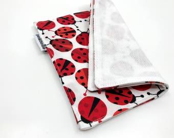 Cloth Napkin For Kids (Easter Napkins, Two Napkins, Ladybird Gifts, Ladybug Gift, Birdseye Cotton, penandthimble, Nature Napkins, Insects)