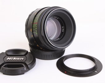 Helios 44-2 Lens for Nikon F mount INFINITY IS! 2/58 mm f/2 M42 58mm Russian Soviet Made in USSR Vintage Photo Portrait Bokeh Slr lens 44M-4