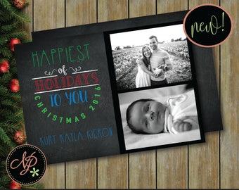 Printable Christmas Photo Card, pdf Christmas Card, DIY Photo Christmas Card, Christmas Holiday Photo Card, pdf Instant Download Card