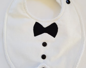 Black Tie Formal Baby  Bib