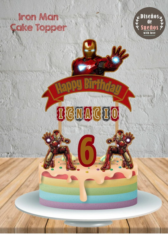 Iron Man Cake Topper Iron Man Birthday Iron Man Party