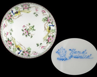 """Antique Nippon Mystery 40 Hand Painted 7 5/8"""" Salad Plate"""