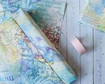 Pack of three wrapping paper sheets watercolour blot effect wrapping paper sheets wrapping paper pack of five small wrapping paper sheets gift wrap watercolour design map design gumiabroncs Image collections