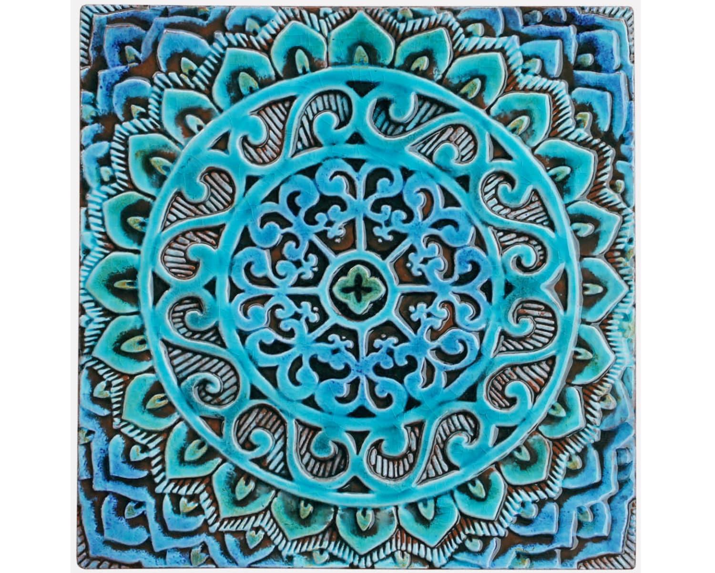 Fresh Mandala wall hanging made from ceramic outdoor wall art JI55