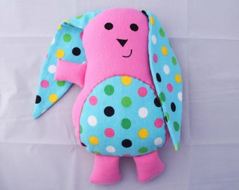 Original Design Stuffed Rabbit/ Buddy to Animal ABC Book