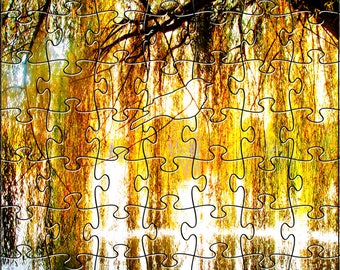 Willow Zen Puzzle - Hand crafted, eco-friendly, American made artisanal wooden jigsaw puzzle